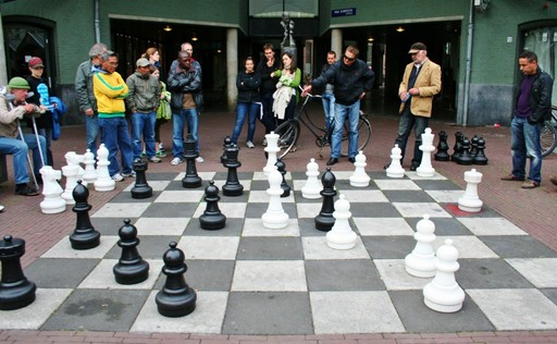 Giant chess at Max Euweplein, Amsterdam