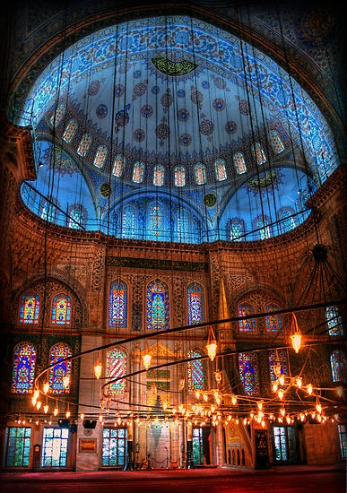 Inside the Blue Mosque Istanbul