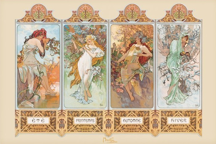 Four Seasons, Alfons Mucha