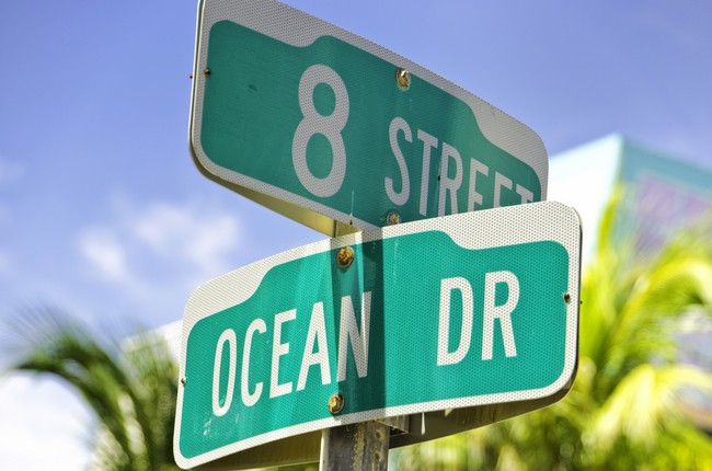 Ocean Drive Sign, Miami Beach
