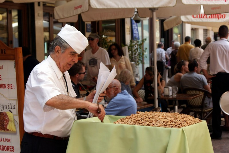 Fried Almond satll in Málaga