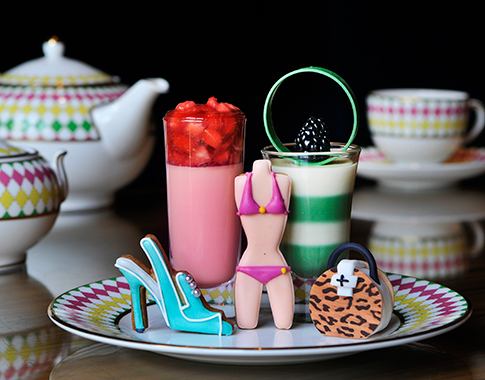 Fashionable afternoon tea in the Berkeley, London