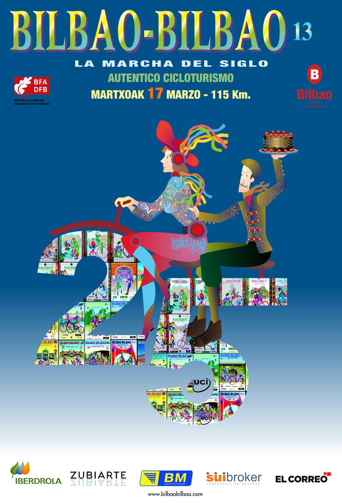 Poster  Bilbao Bilbao Cycle Tour 2013