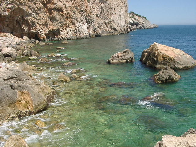 Coves in L'Estartit, Costa Brava