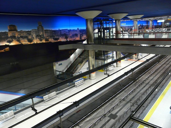 estación metro Madrid