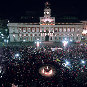 New Year's Evein Puerta del Sol, Madrid