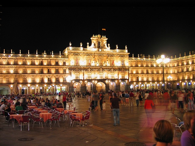 Plaza Mayor of Salamanca at night