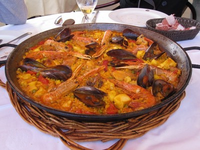 mangiare paella a Sitges