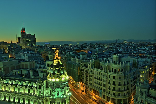 Views of Madrid from the rooftop of the Circulo de Bellas Artes
